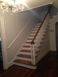 To clean, crisp and neutral gray. (Sherwin Williams-Rhinestone)